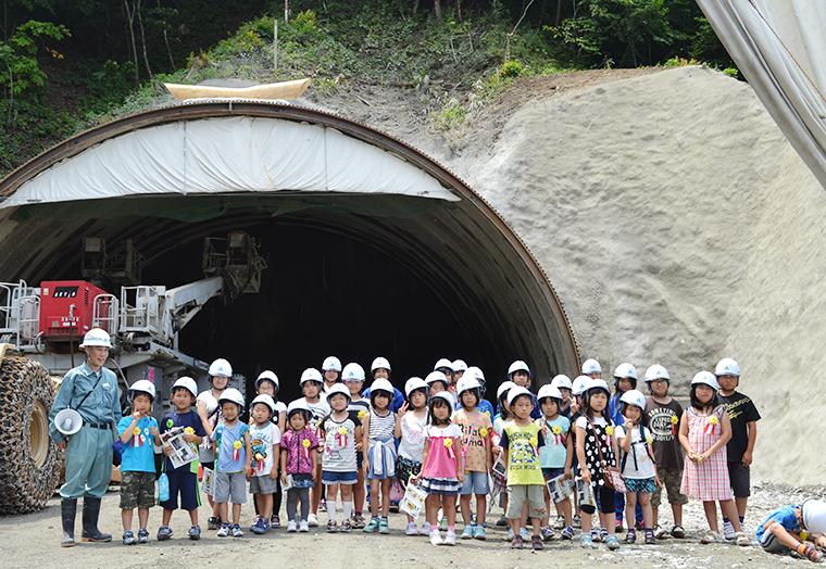 地域の子供向け現場見学会(2015年8月)
