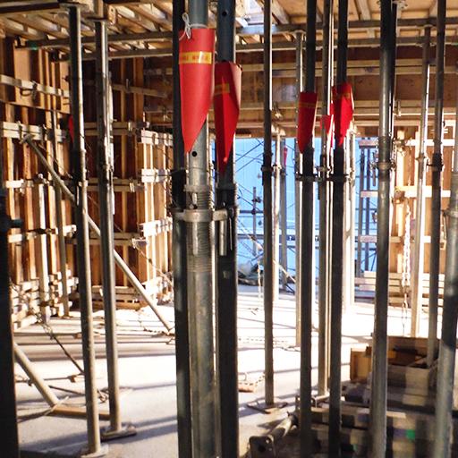 TAS工法 型枠支保工の早期解体工法