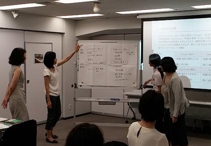 女性社員対象の管理職養成を目的とした研修(2015年10月)