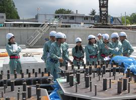 技術系女性社員による作業所パトロール(2016年6月)