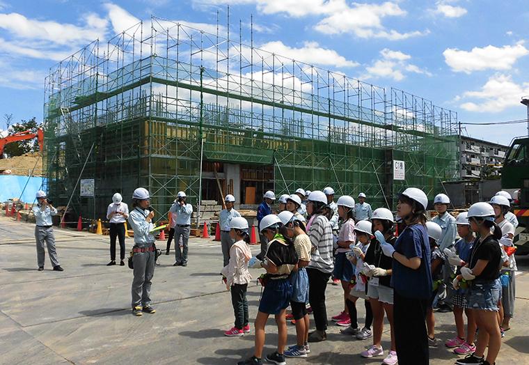 けんせつ小町現場見学会(2019年8月)